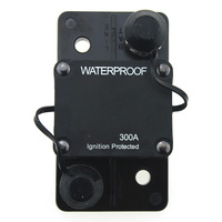 12V 48VDC 300A Waterproof Circuit Breaker Fuse Holder with Manual Reset for Marine Trolling Motors Boat ATV 300Amp