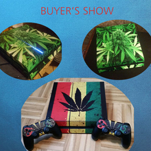 Weed For PS4 Skin Vinyl Decal Sticker For Playstation 4 Console+2Pcs Controller Gamepad Stickers