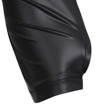 Men's Black Leather Open Chest Top