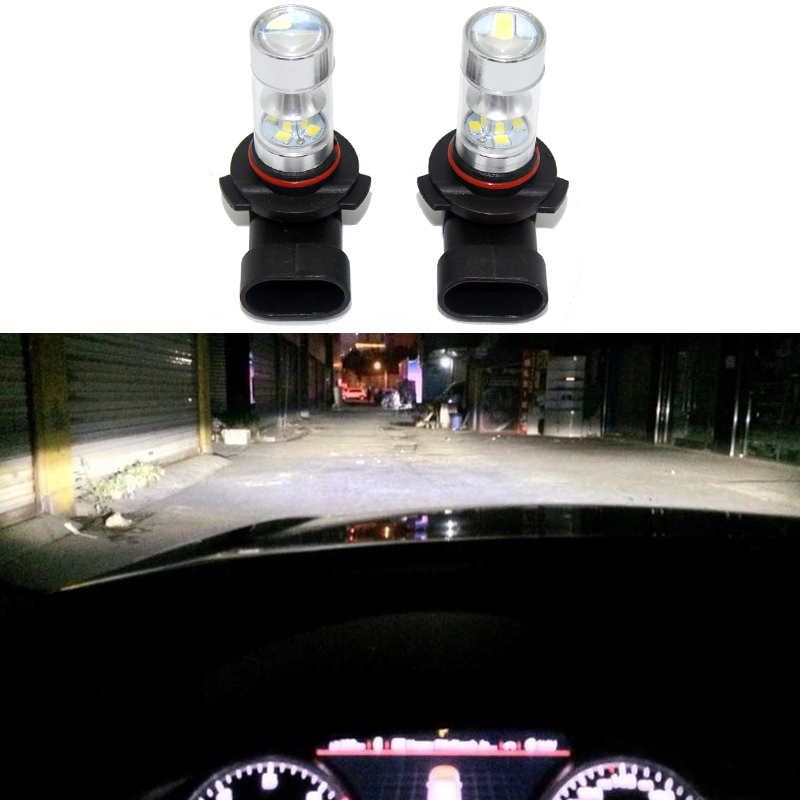 2 x Super Bright 6000K Xenon White XB-D 9006 HB4 Xenon Bulbs Car High Beam Daytime Running Lights Fog Lamps For Audi BMW VW KIA 2pcs high power super bright 6000k xenon white cree xb d h8 h11 led replacement bulbs for fog light driving lamps