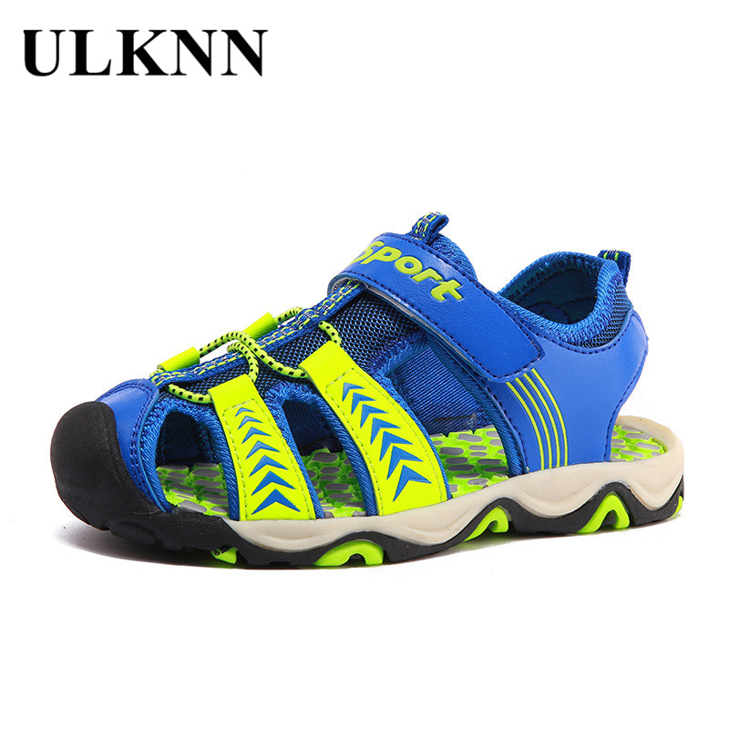 ULKNN Children Sandals For Boys Summer Beach Shoes Breathable School Shoes Cut-outs Kids Sandals Boys Casual Children Sport Shoe