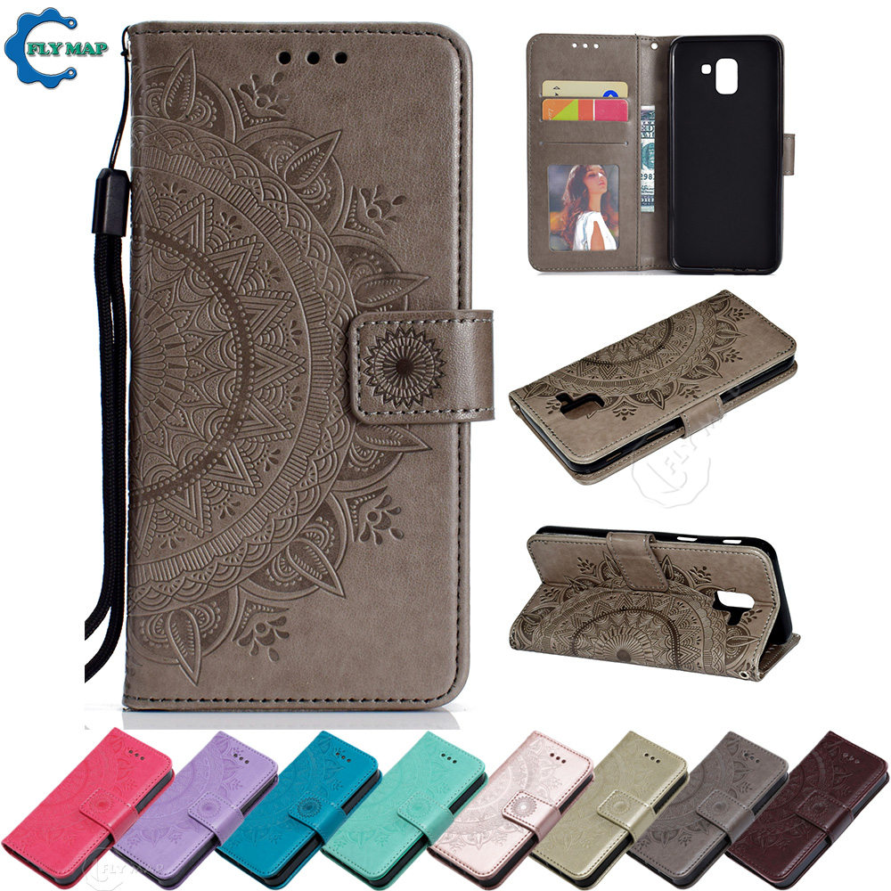 2541e209361 Flip Case for Samsung Galaxy J6 2018 SM J600 J600FN J600F DS Phone Leather  Cover for Samsung J 6 2018 SM-J600F DS SM-J600FN Case