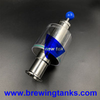 Free Shipping Straight 1.5 in. (OD 50.5mm) Tri Clamp Spunding Valve SS304 Variable Pressure Relief Valve 2.2 bar