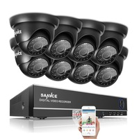 SANNCE 8CH 1080N DVR 1080P NVR CCTV System 8pcs 720P TVI Security Cameras IR Indoor Outdoor