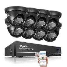 Sannce 8CH 1080N DVR 1080 P HDMI NVR CCTV Системы 8 шт. 720 P TVI камер безопасности ИК Крытый Открытый CCTV Товары теле- и видеонаблюдения комплект