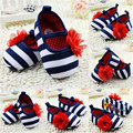 Crib Shoes Baby Girl Flower Fit For 0-18 Months Baby  Antislip Shoes Infant Toddler Soft Sole Cotton Prewalker 0-18M