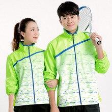 Новая теннисная куртка на молнии для женщин/мужчин, бадминтон, теннисная куртка, рубашка, куртка для бадминтона, Настольная теннисная Толстовка 5071