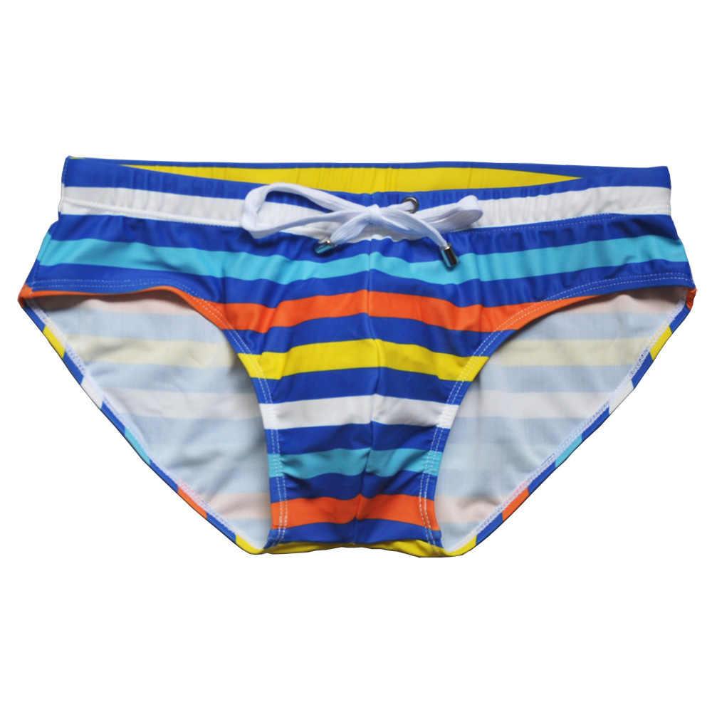 Tous les Styles que vous voulez! Maillot de bain imperméable hommes slip Sexy maillot de bain maillot de bain pour bain homme short de bain Zwembroek Heren