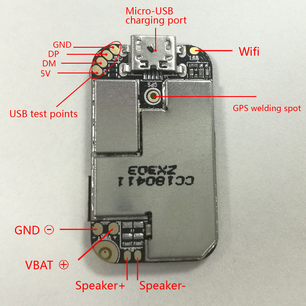 Topin ZX303 GPS Tracker Module GSM GPS Wifi LBS Locator Voice Monitor Recorder Web APP Tracking TF Card 10pcs/lot without Cable
