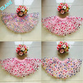 2016 New Baby Kids Girls Dancewear Cute Chiffon Tutu Bow Pettiskirt Tutu Skirt