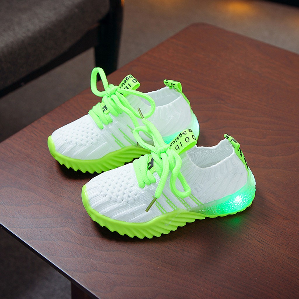 LED Candy Color Knitted Sneakers 4