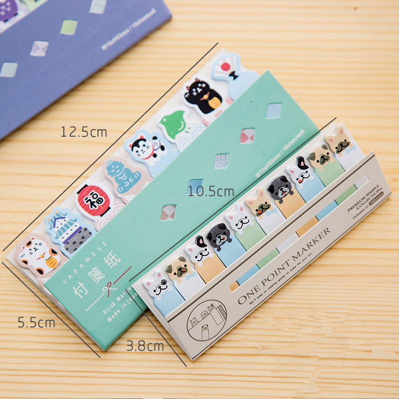 Image 2 - 48 pcs/Lot Cute post stick memo paper animal sticky note it stickers bookmark stationery papelaria office School supplies A6754note stickerstick memostickers bookmarks -