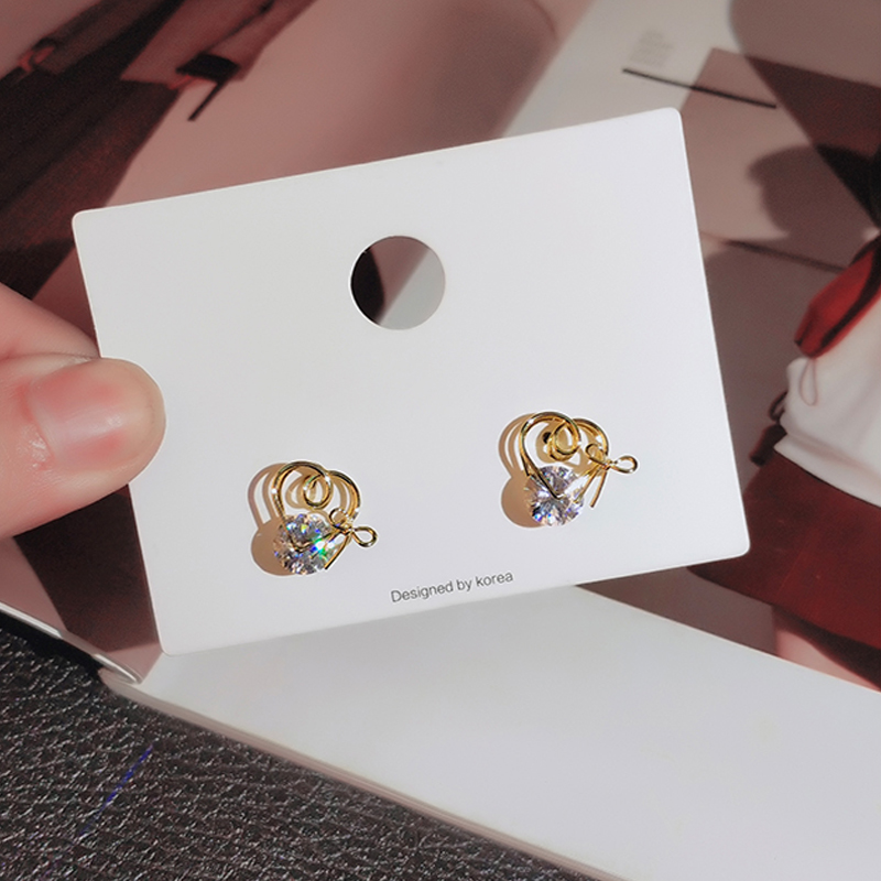 gold color stud earrings with zircon stone (8)