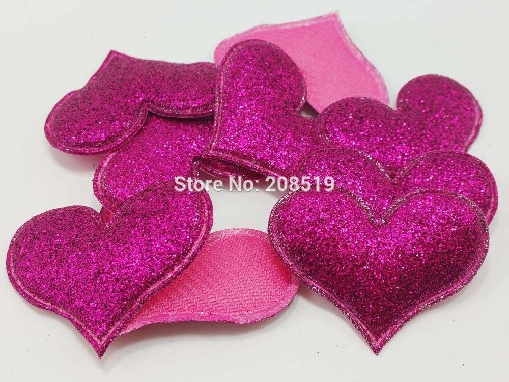 PA0055 мягкий сердце фетр 30 мм* 40 120 шт. блестящие аппликации для ремесло и Скрапбукинг аксессуары одежды