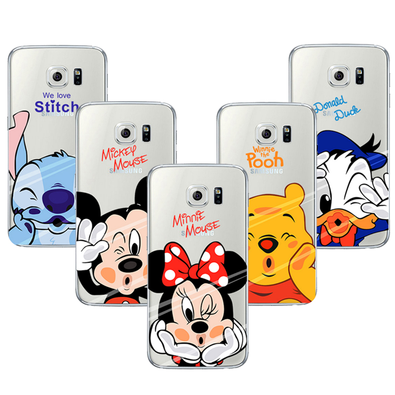 Coque Capa Para Cartoon Mickey Minnie Soft TPU Cleart Phone Cases For Samsung Grand Prime S3