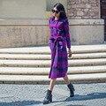 Женщины Двубортный Зимнее Шерстяное Пальто 2016 Плюс Размер XS-4XL Свободные Причинно Длинный Шерстяное Пальто Манто Femme RS469