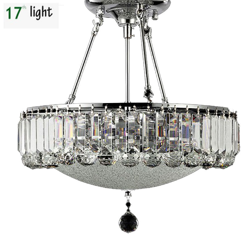 LED Modern Rectangular Crystal Chandelier Light Fixture Pendant Hanging Lamp  For Parlor Dining Room Restaurant Decoration