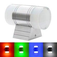 Jiawen вилла Настенные светильники в коридор Открытый водонепроницаемый светодиодный настенный светильник 6 Вт, вверх и вниз освещение(AC85-265V