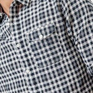 Image 4 - SIMWOOD ブランドカジュアルチェック柄シャツ男性 2020 春夏高品質男性のプラスサイズ高品質カミーサ男性 190164