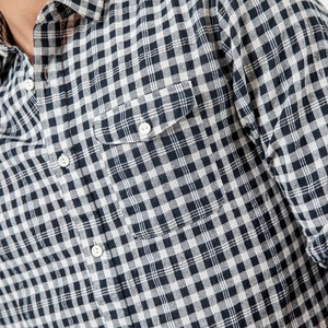 Image 4 - SIMWOOD Brand Casual Plaid Shirt Men 2020 spring Summer High Quality Shirts for men Plus Size High Quality Camisa Male 190164