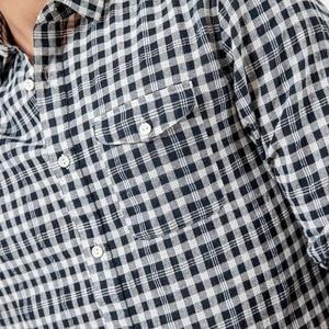 Image 4 - Мужская рубашка в клетку SIMWOOD, повседневная рубашка высокого качества, брендовая модель 190164 большого размера на лето и осень, 2019