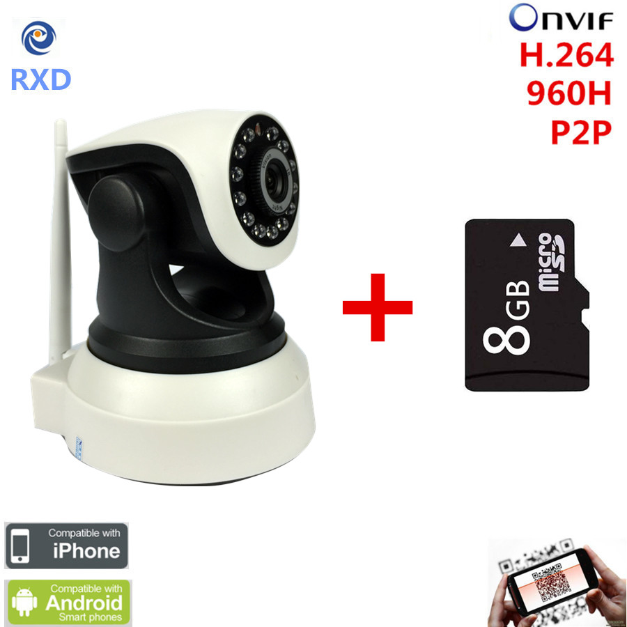 Wireless  Wifi Mini CCTV P2P Baby Monitor Security  support IOS & Android smart home ip Camera with 8G Micro TF Card new p2p 720p ip camera wifi wireless mini cctv camera baby monitor security p t micro tf card surveillance camera ios