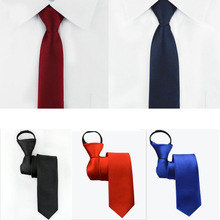 Tie Necktie Cravats Lazy-Dress Formal-Suit Zipper Easy-To-Pull Wedding Commercial Fashion