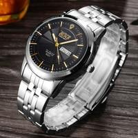 BOSCK Top Brand Wrist Watch Men Waterproof Watches Shockproof Horloge Mannen Auto Week Date Calendar Relogio
