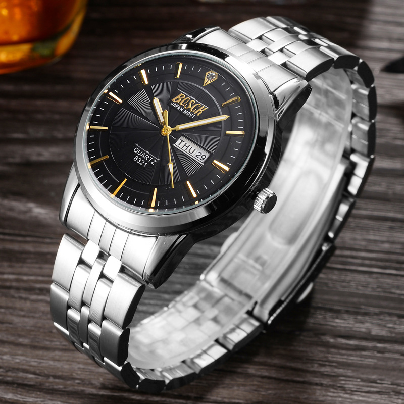 BOSCK Top Brand Wrist Watch Men Waterproof Watches Shockproof Horloge Mannen Auto Week Date Calendar Relogio Quartz Saat Man