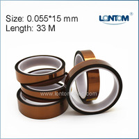 5 Rolls 15mm Width 33M Kapton Tape High Temperature Heat Resistant Polyimide