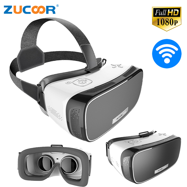 13716b100e5 Virtual Reality All in one V2 3D VR BOX Android 5.1 Googel Cardboard Head  Mount Helmet