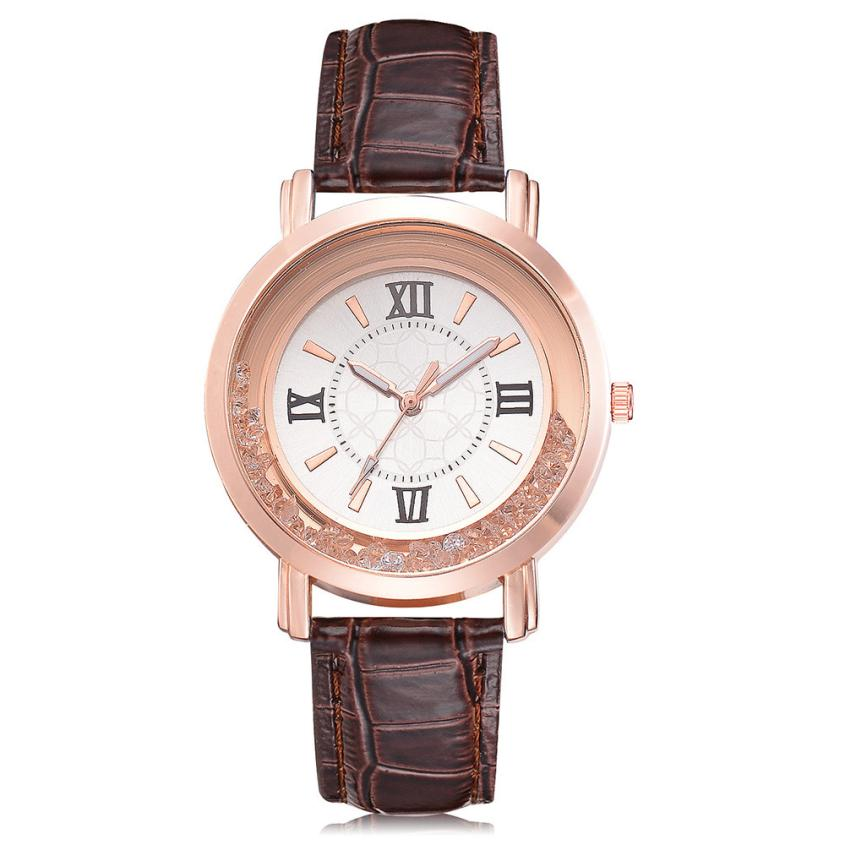 2018 Hot Sale Fashion Women's Watch Luxury Casual Leather Band Outdoor Sports Round Shape Concise Classic Wristwatch