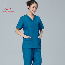 Operating clothes hand washing men and women brush isolation nurses wear separate suits
