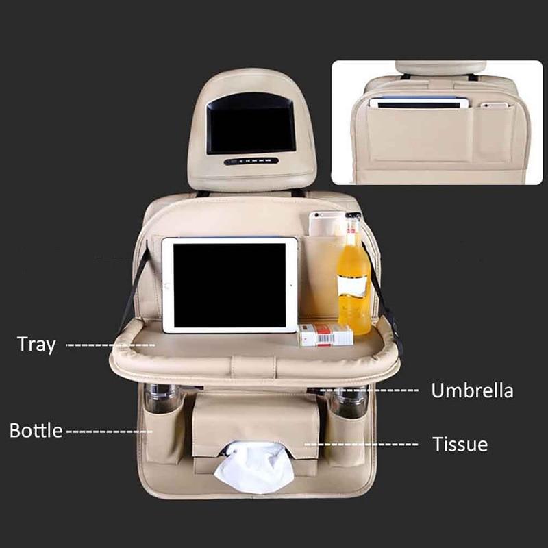 Sac de rangement Multi de poche d'organisateur de siège arrière de voiture automatique avec la porte-table à manger