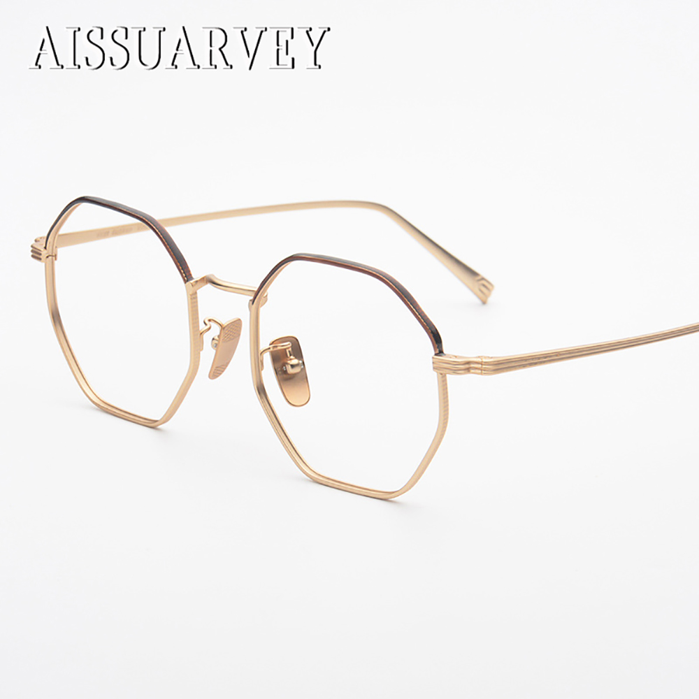 Men's Eyewear Frames Pure Titanium Fashion New Unisex Full Rim Optical Eyeglasses Frame Gold Silver Clear Lens Goggle Brand Design Myopia Eyewear Year-End Bargain Sale
