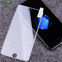 PZOZ Tempered Glass For Iphone 7 Screen Protector Film Silicone Edge 3D Full Cover For Iphone