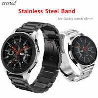 Pasek do smartwatcha dla Samsung biegów S3 granicy/klasyczny pasek inteligentny zegarek bransoleta ze stali nierdzewnej wrisrt pas metalowy pasek do zegarka