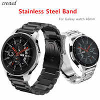 Stainless Steel band for Samsung Galaxy watch 46mm strap Gear S3 Frontier band 22mm Metal bracelet Huawei watch GT strap S 3 46