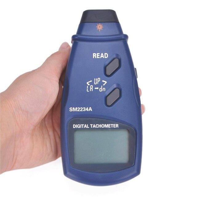 Digital Tachometer Range 2.5~99999 RPM Auto-range LCD Photo Tachometer With Max Min Last Data Memory Original SM2234A