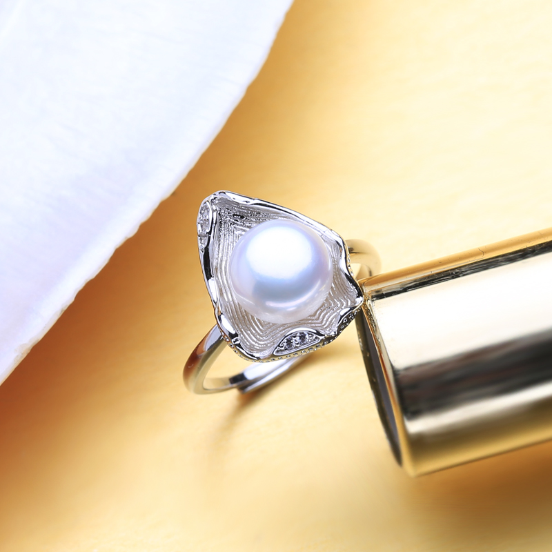 FENASY Freshwater Pearl Rings Boho Shell Shape 925 Sterling Silver Vintage Ring For Women Wave Jewelry FENASY Freshwater Pearl Rings Boho Shell Shape 925 Sterling Silver Vintage Ring For Women Wave Jewelry CZ Cubic Zirconia Ring