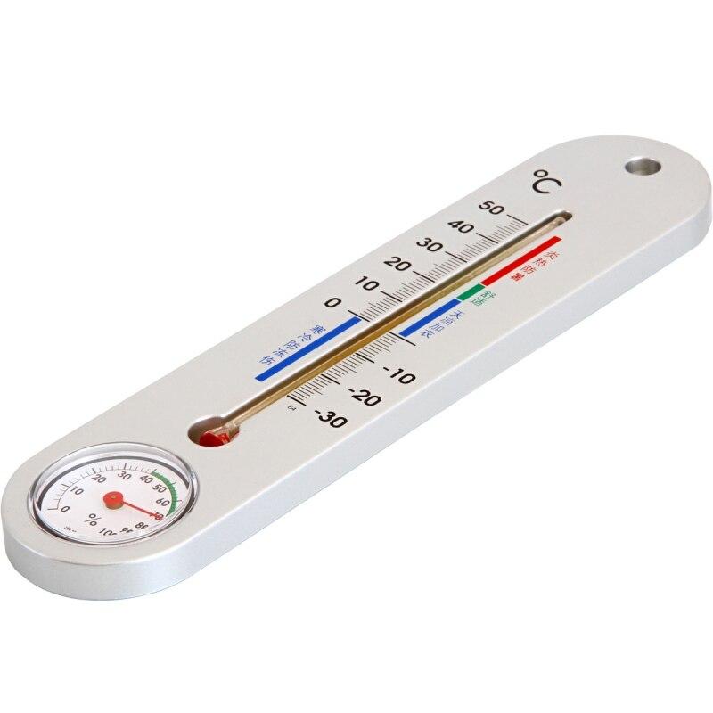 Intérieur Chambre Mercure Thermomètre Humide Hygromètre Haute Précision Mur Monté Bébé À La Maison Pour Pharmacie Humidité Table Testeur