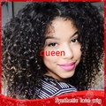 Synthetic lace front wig afro kinky curly wig for black women lace front wig synthetic heat resistant #1B 8''--28'' instock