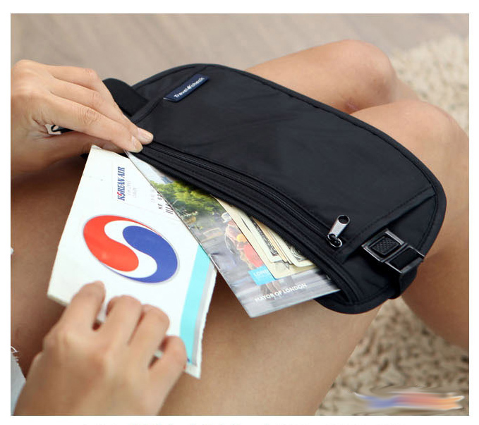 Waist Bag Women Slim Waist Pack Anti-theft Passport Cover Travel Belt Bag Women Tickets Pouch Fanny Packs Waterproof Bum Bags