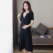 Fashion Maternity Dresses Breastfeeding Clothes For Pregnant Women Clothing V-neck Short Sleeve Pregnancy Dress Wear Lactation стоимость