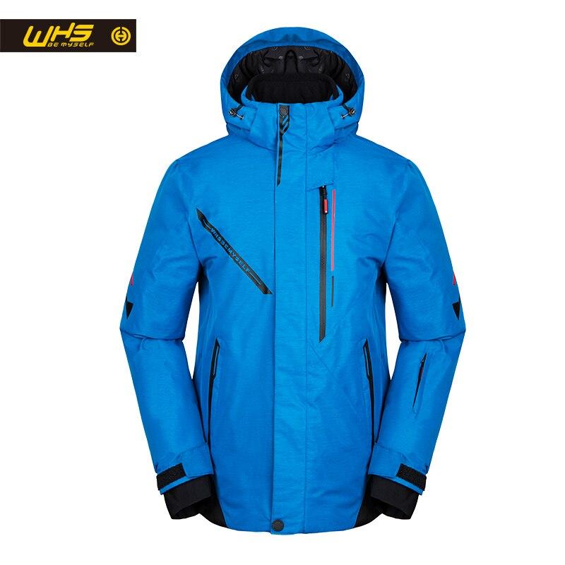 WHS hommes veste de ski en plein air coupe-vent veste chaude veste de neige mince mode Simple Sports épaissi coton vêtements pour Te