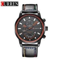 2016 Relojes Curren hombres Deportes Relojes de pulsera de Cuero Relojes de Cuarzo Para Hombre Relojes de Primeras Marcas de Lujo Del Relogio Relojes de Los Hombres 8217