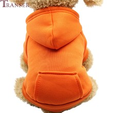 Russia Only Casual Dog Winter Hoodies Sweatshirts with Pocket Small Dog Warm Coat Pet Clothes Puppy Dogs Apparel 202(China)