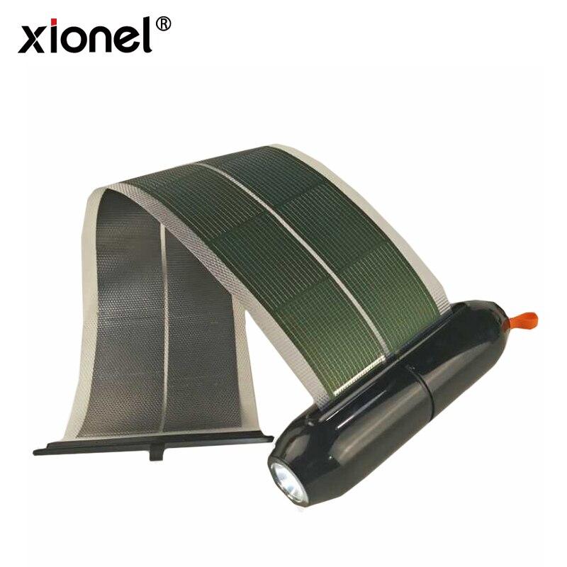 Xionel Nouveau Produit Complètement Flexible Enroulable Panneau Solaire Rechargeable Solaire Chargeur flexibilité CIG Amorphe Solaire Cellules