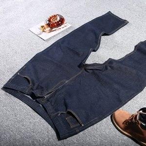 Image 4 - גדול גודל גדול גודל גברים של ג ינס 9XL 10XL 11XL 12XL מכנסיים סתיו מכנסיים למתוח ישר 50 54 56 58 ג ינס למתוח שחור גדול s
