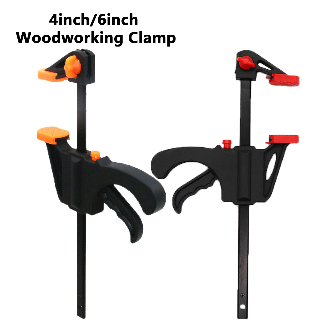 Hand Tools  4 Inch/ 6 Inch Wood-Working Bar Clamp Quick Ratchet Release Speed Squeeze DIY Tool Color Random